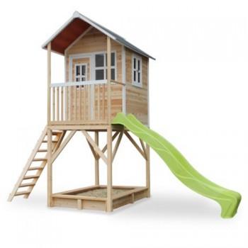 Casita para niños con arenero y tobogán Loft 700 Madera