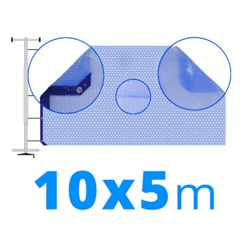Manta térmica solar 10x5 m azul