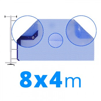 Manta térmica solar 8x4 m azul