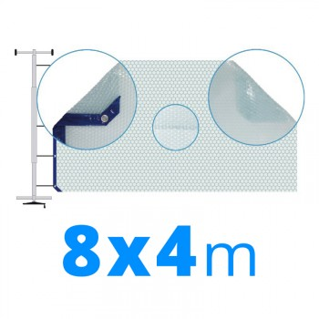 Manta térmica solar 4x8 m azul