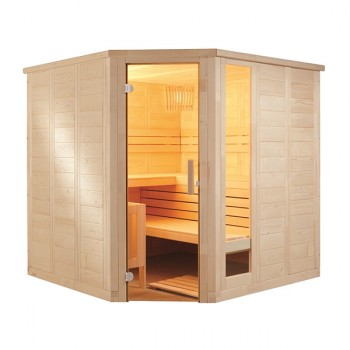 Sauna Vapor Komfort Corner Large Tradicional Finlandesa