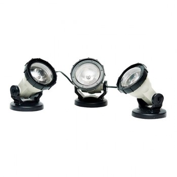 3 focos LED alta potencia estanques