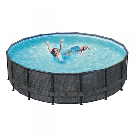 Piscina Elite Wicker Dark Ø488 X 122 m