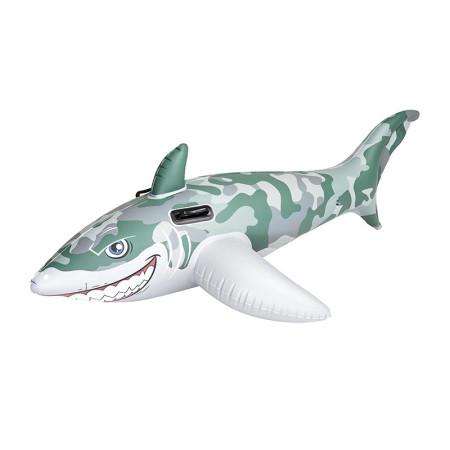 Flotador Tiburón Army Bestway diseño camuflaje militar