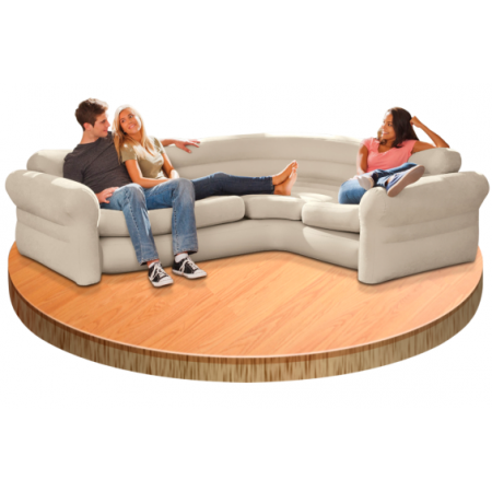 Sofa Hinchable Rinconera 257 x 203 x 76 cm de Piscinas Intex - 68575