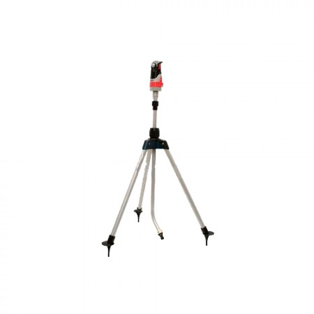 Aspersor rotatorio con trípode telescópico