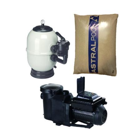 Filtro Aster, Bomba Velocidad Variable y arena de sílex