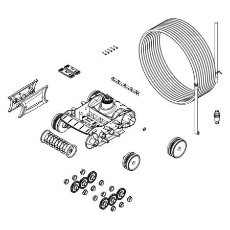 Bloque tracción motor Zodiac TornaX R0767400