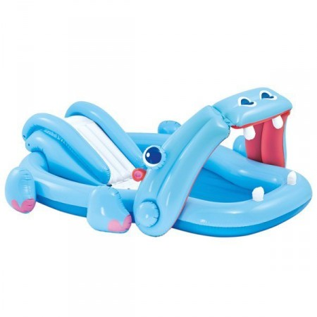 Centro de juegos hinchable hipopótamo