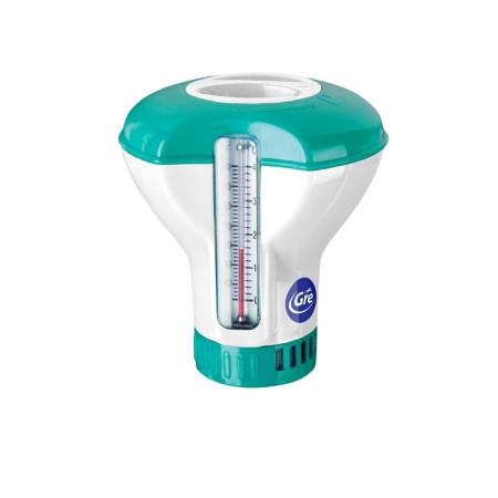 Combi termo-dosificador dosficador flotante con termómetro