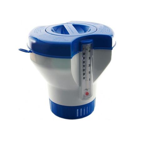 Dosificador cloro flotante termómetro