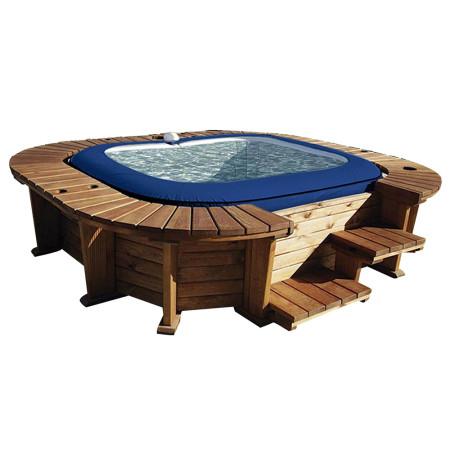 Spa Hinchable Bestway panelado madera Malibu