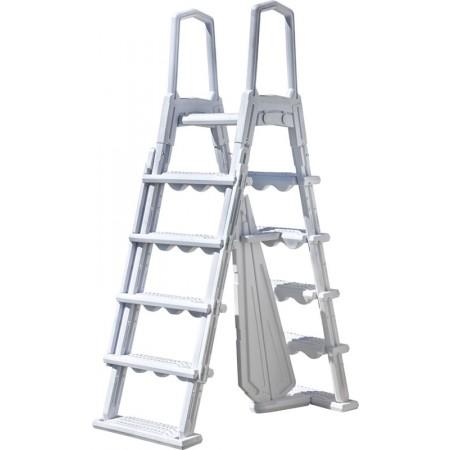 Escalera de seguridad de acero con peldaños desmontables