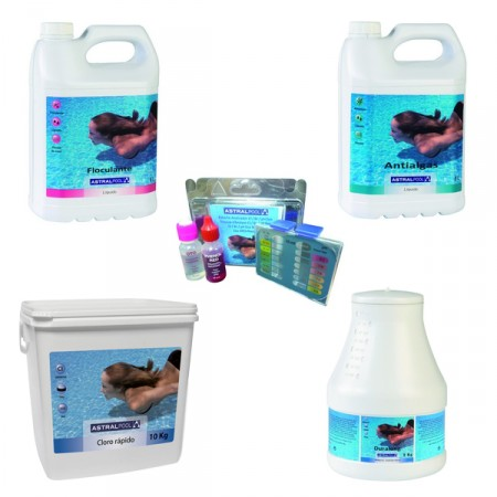 Pack verano piscina desmontable Plus