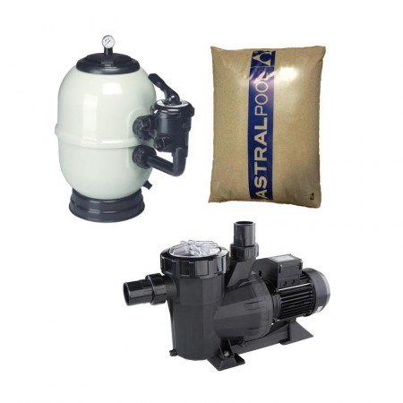 Bomba Victoriaplus, filtro Aster y arena de sílex