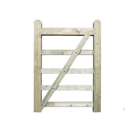 Portón de madera 90 x 135 cm
