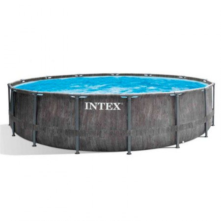 Piscina Intex Prisma Frame Greywood Ø457 x 122 cm