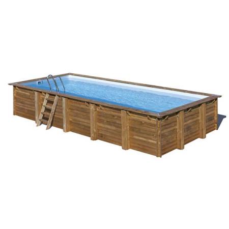 Piscina de madera Braga rectangular