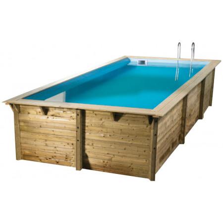 Piscina rectangular madera 555 x 300 x 140 cm