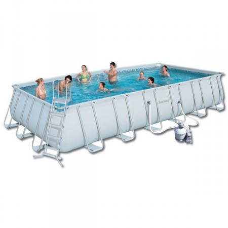 Piscina Desmontable Bestway Power Steel 671x396x132