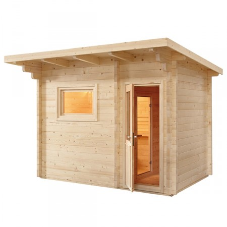 Sauna Exterior Lava de Vapor Tradicional Finlandesa