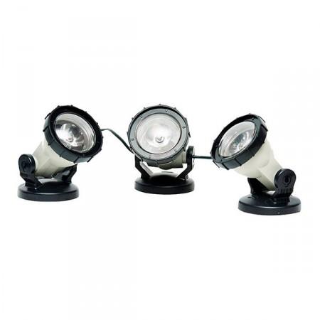 3 focos LED alta potencia estanques
