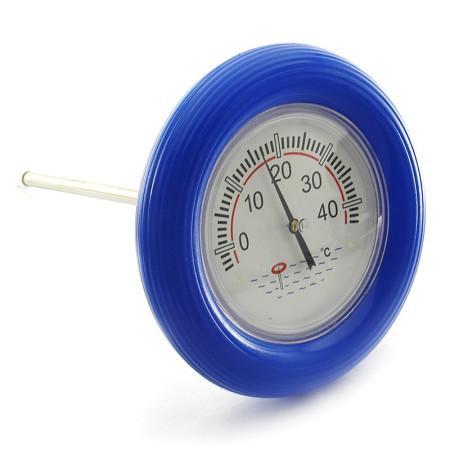 Termómetro piscinas flotador azul
