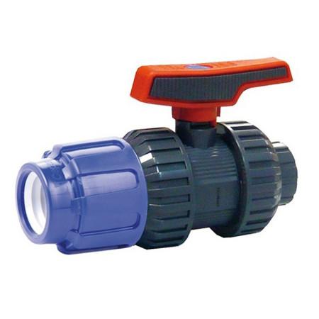 Válvula de bola [STD] PVC conexión PE para roscar