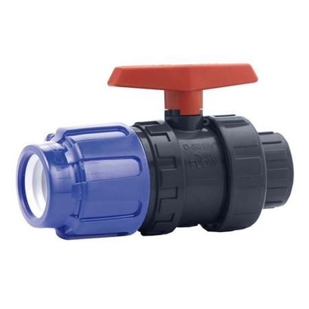 Válvula de bola PVC conexión PE x encolar