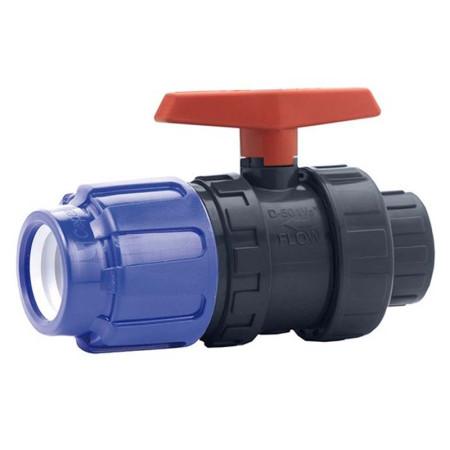 Válvula de bola PVC conexión PE para roscar