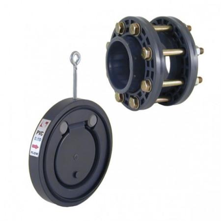 Válvula de clapeta con kit accesorios PVC