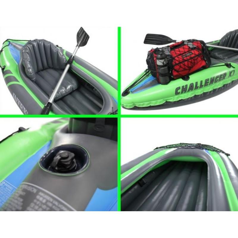 Kayak hinchable challenger k1 intex outlet piscinas for Piscina canoe