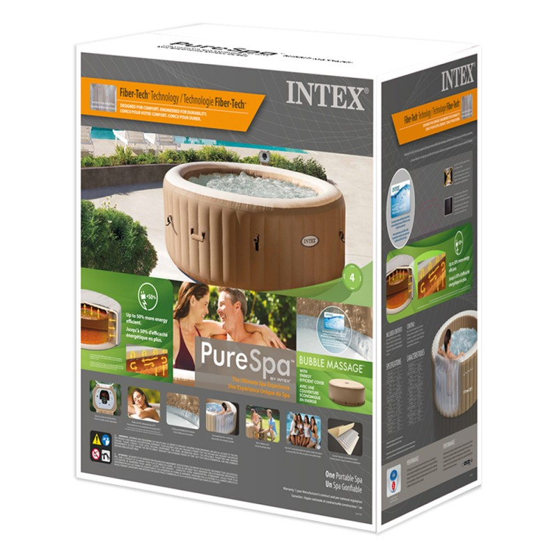 Spa hinchable intex Bubble Massage caja