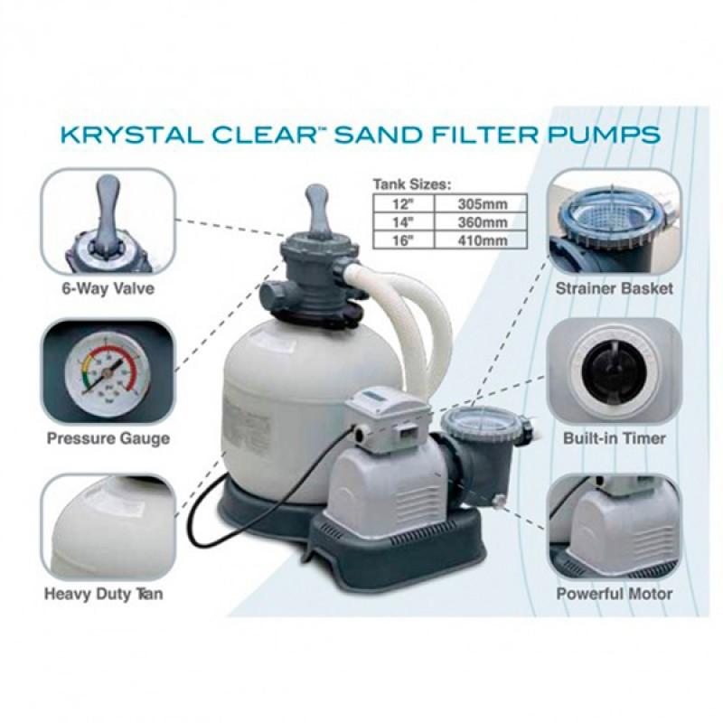 Especificaciones Depuradora INTEX de Arena Krystal 7900 l/h