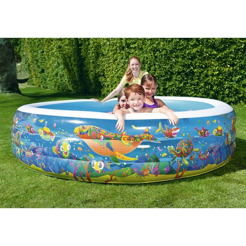 Piscina hinchable acuario bestway outlet piscinas for Piscina bestway