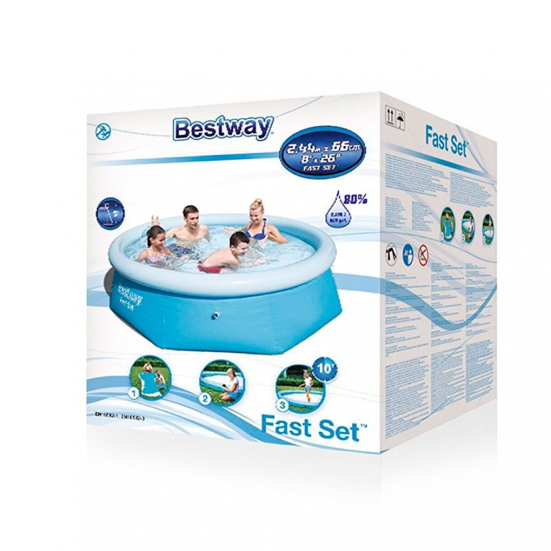 Embalaje Piscina Hinchable Bestway Fast Set 244x66