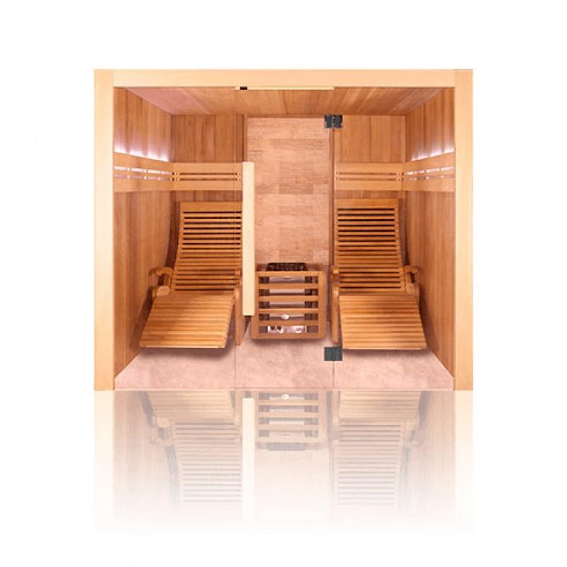 Sauna tradicional de vapor piedra