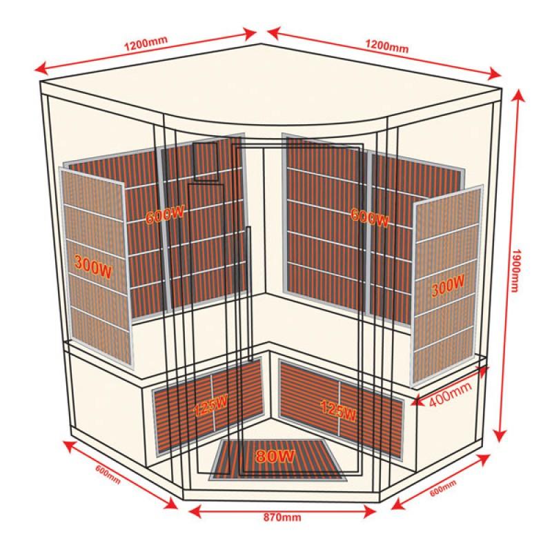 Sauna Infrarrojos Apollon 2/3 Plazas
