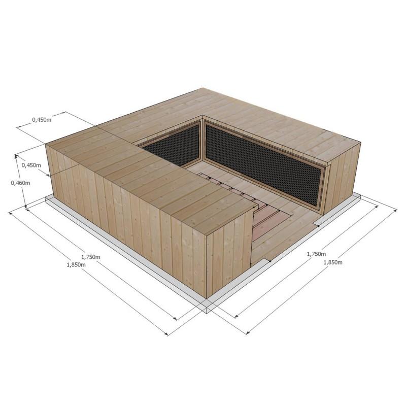 Sauna Infrarrojos Apollon Club 4/5 Plazas