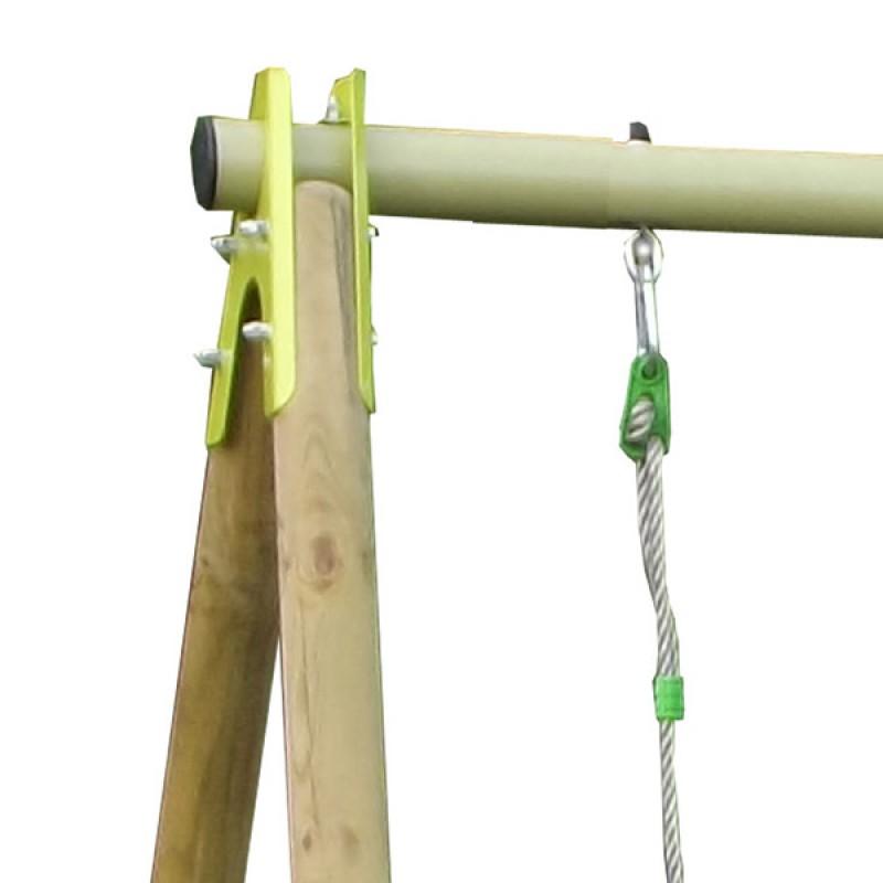 Columpio madera con Tobogán Techwood