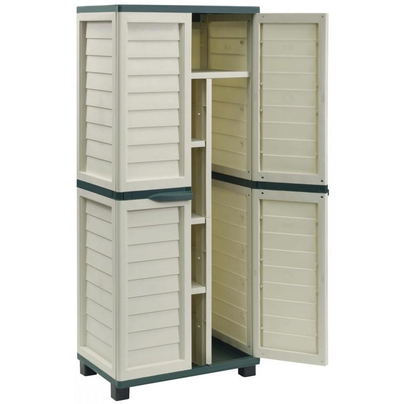 Armario jard n cabinet 74x43x157cm outlet piscinas for Armario para balcon exterior