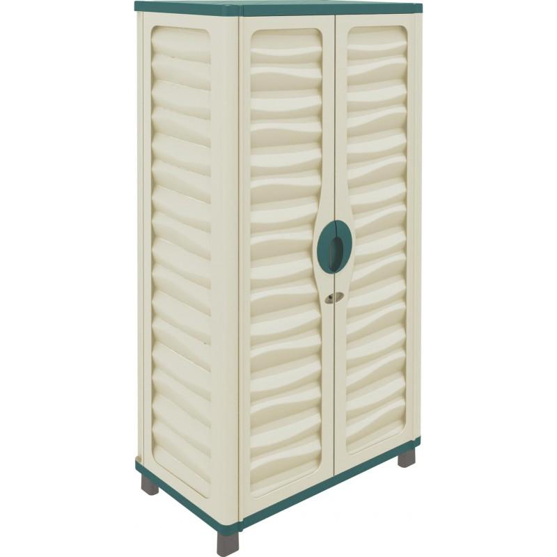 Armario jard n cabinet 74x43x157cm outlet piscinas for Armario para jardin plastico