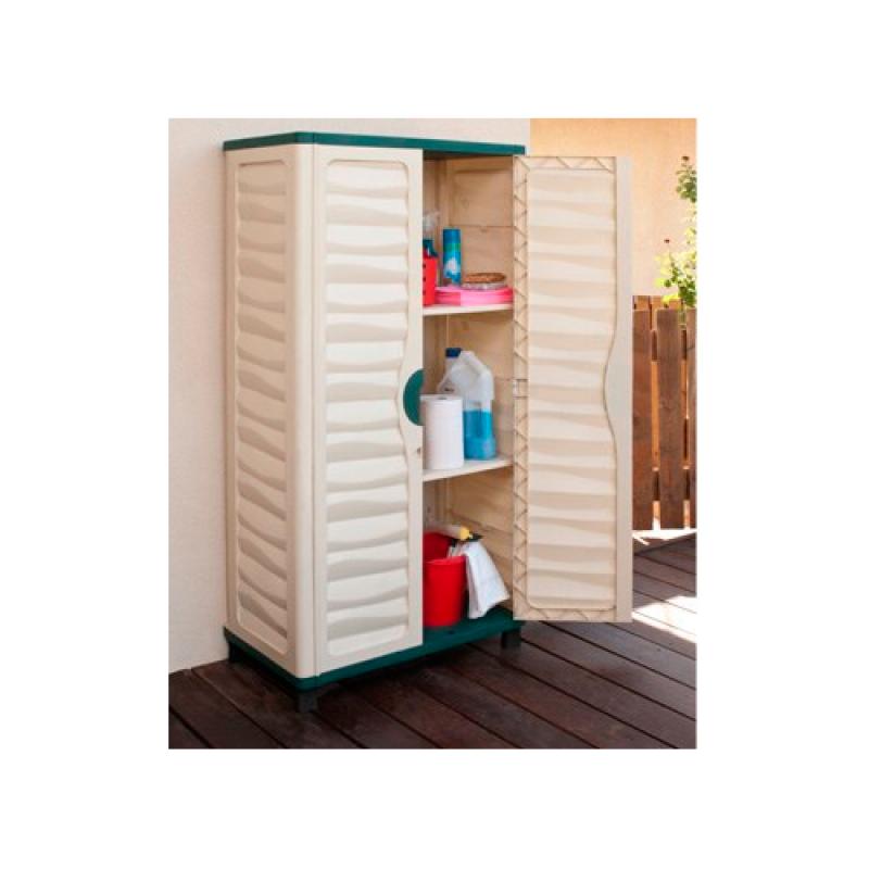 Armario jard n cabinet 74x43x157cm outlet piscinas for Armario plastico jardin