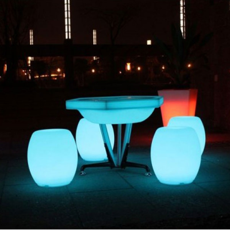 Asiento Tambor Luminoso Lámpara LED