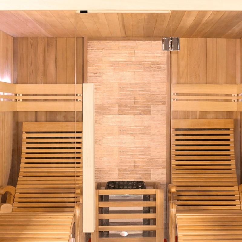 Inerior Sauna tradicional de vapor piedra Poolstar