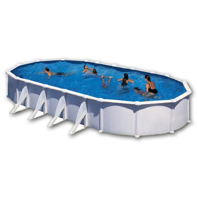Montaje piscina desmontable ovalada de acero