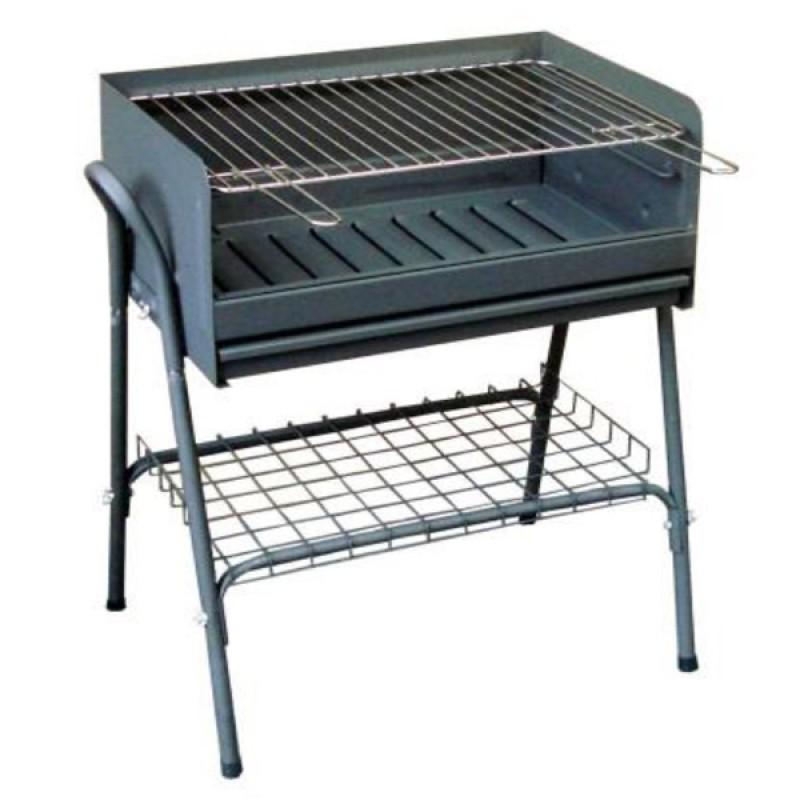 Barbacoa para Carbón 2055 metálica con rejilla