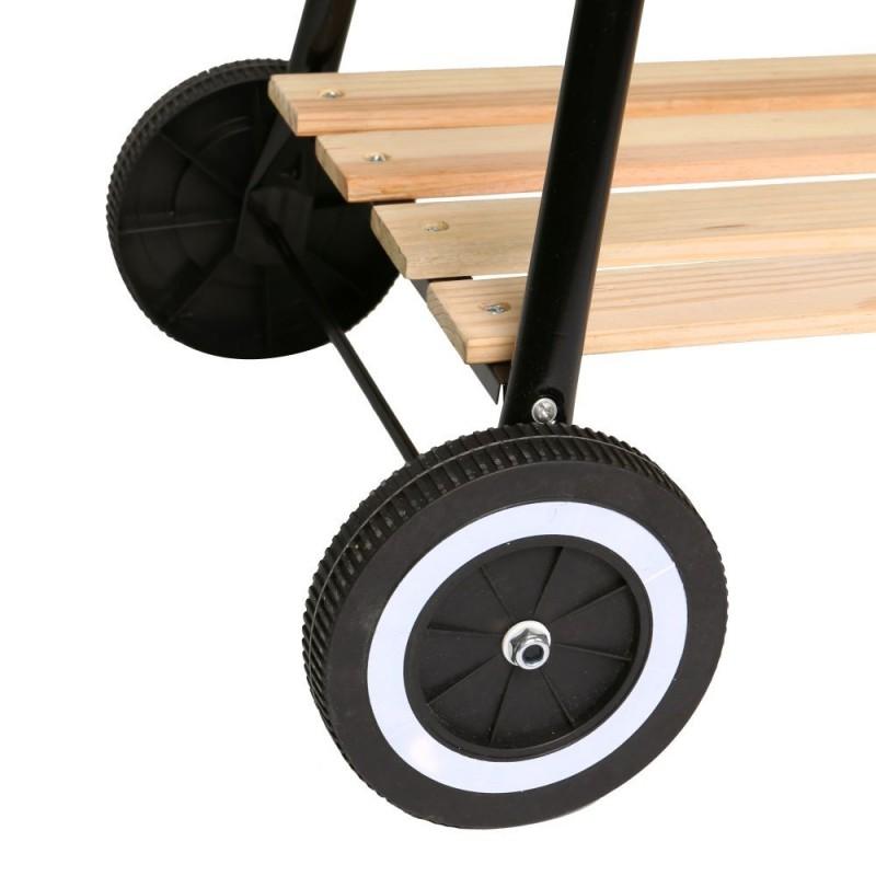 Barbacoa Carbón Estilo Rústico ruedas