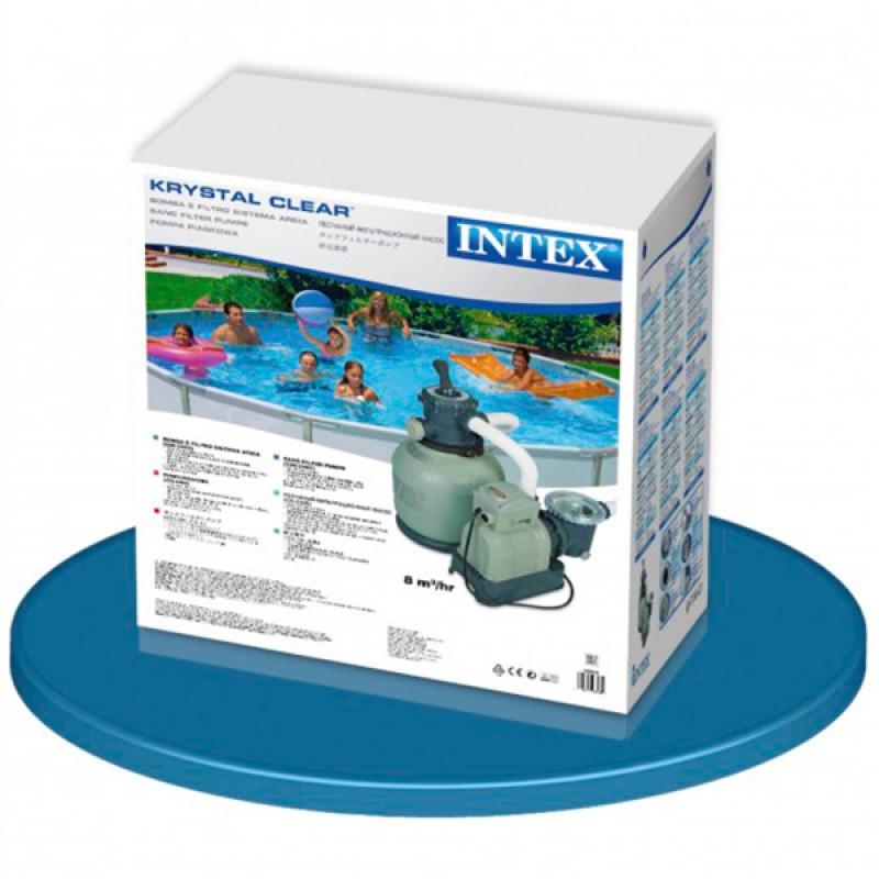 Caja Depuradora Intex de Arena Krystal 10.500 l/h