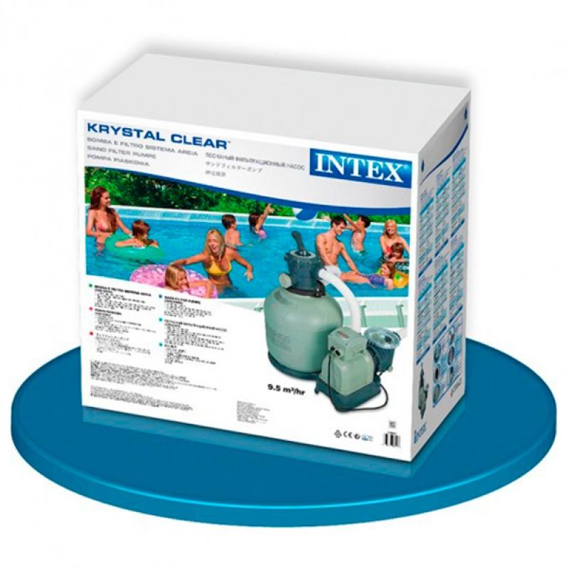 Caja Depuradora Intex de Arena Krystal  12.000 l/h
